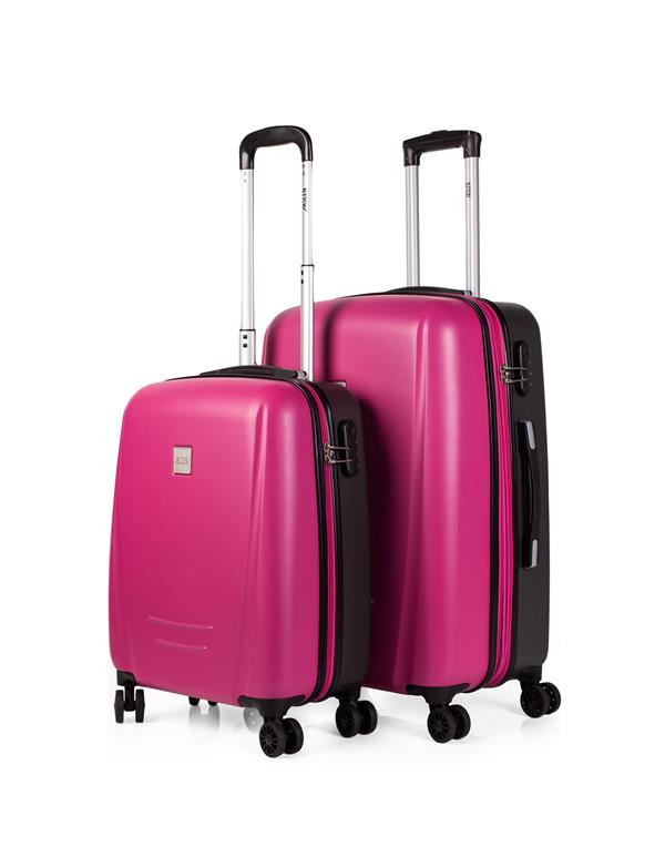 set trolleys 50/60cm fucsia-gris oscuro