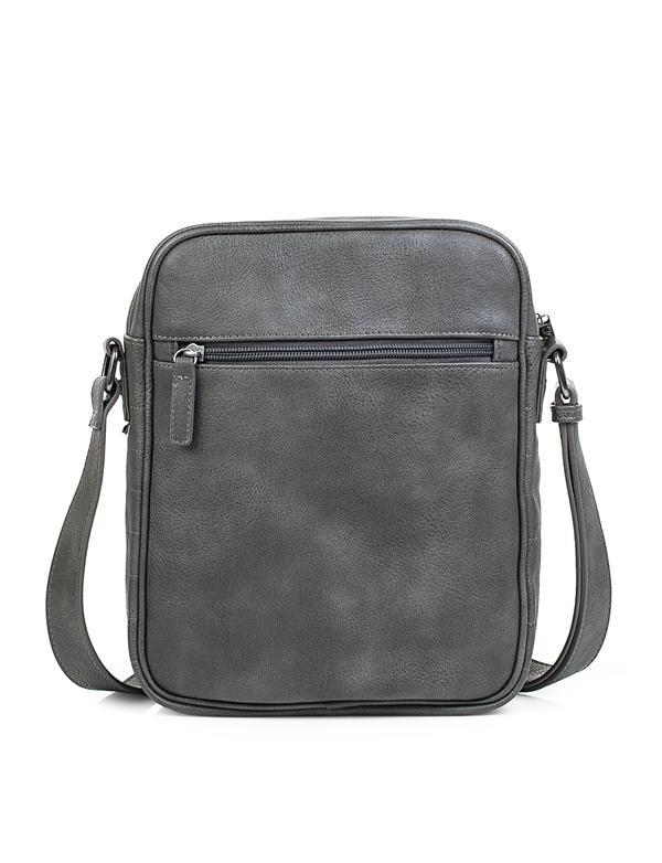 bandolera gris oscuro