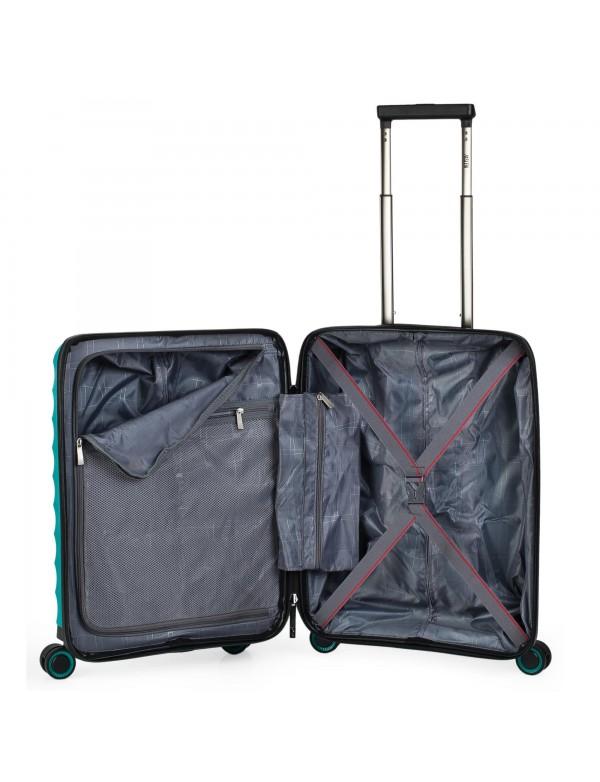 maleta trolley 50cm turquesa
