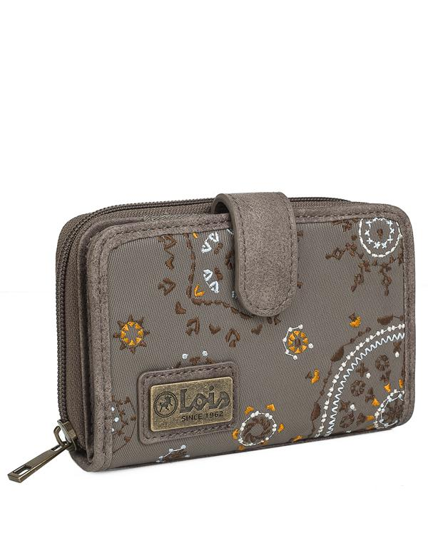 Cartera Estampada con Bordados mujer Lois Atuk color