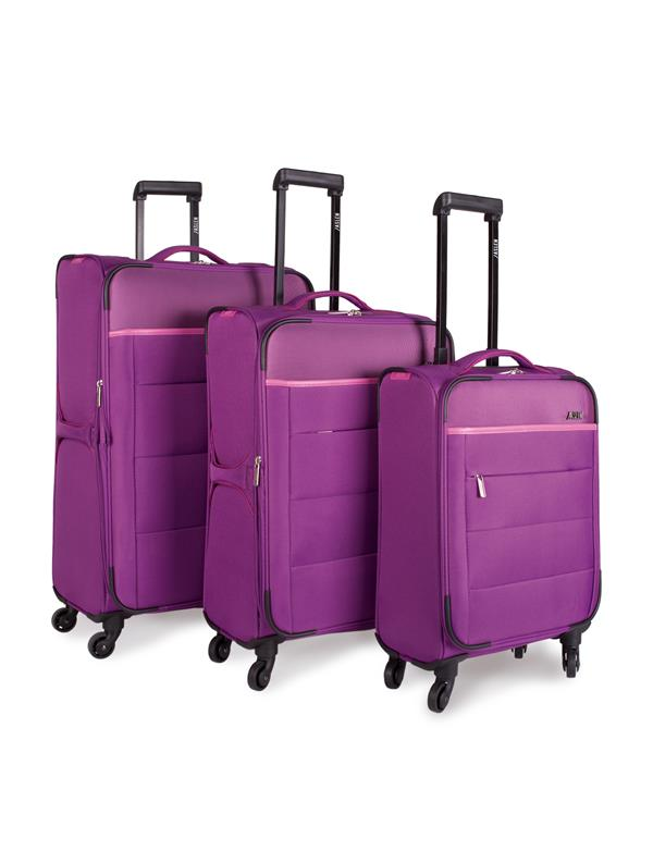 set trolleys 50/60/70cm morado