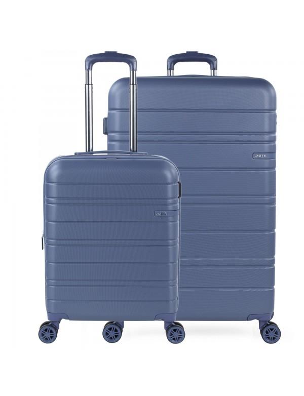 Juego de maletas (cabina y grande) San Marino en ABS Extensibles con capacidad de 152L con TSA