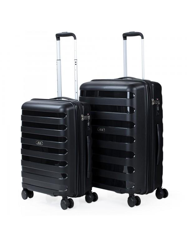 Set de 2 maletas trolleys Polipropileno Roma rígidas Capacidad de 110 L + Extensible