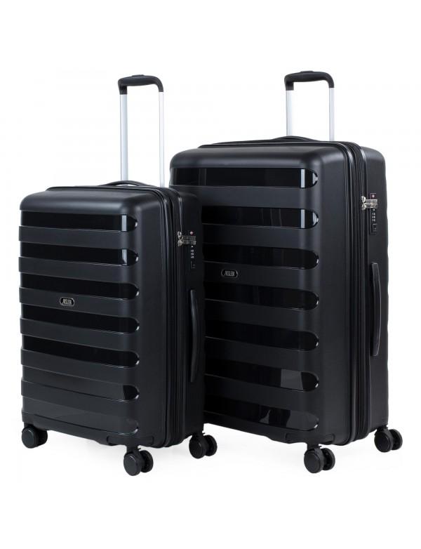 Set de 2 maletas trolleys Polipropileno Roma rígidas Capacidad de 253 L + Extensible