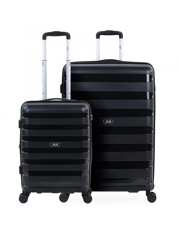 Set de 2 maletas trolleys Polipropileno Roma Rígidas Capacidad de 146 L + Extensible