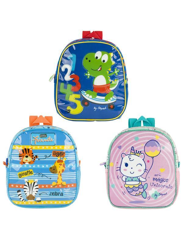 Pack 3 Mochilas Baby Isotermica de niño/niña Skpat colección Babies en poliéster/pvc