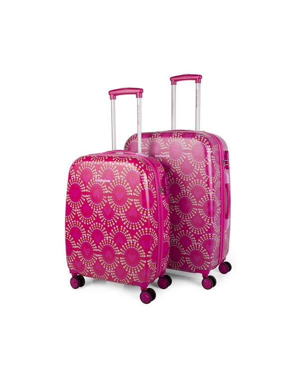 set trolleys 50/60cm fucsia