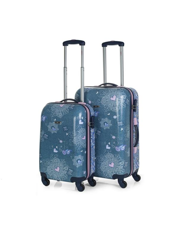set trolleys 50/60cm azul