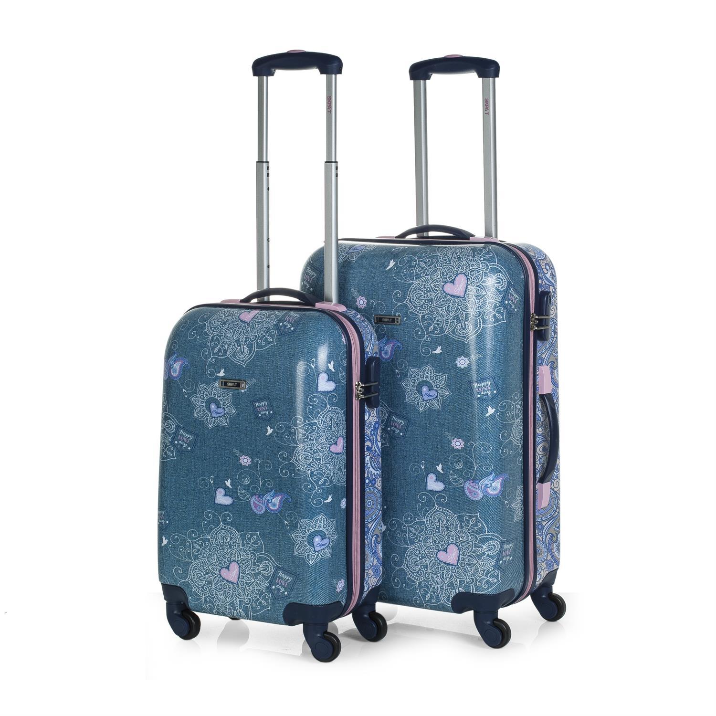set trolleys 50/60cm azul